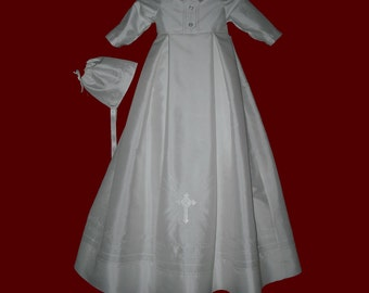 The Embroidered Hail Mary Prayer Christening Gown For Boys