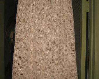 Pink Knit Midi Skirt