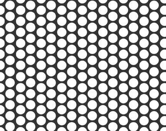 Black HoneyComb Flannel by the Yard - Black Dot Flannel Fabric - Flannel Riley Blake Designs - Flannel Material Sewing Notion