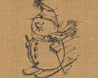 Snowman - MACHINE EMBROIDERY DESIGN