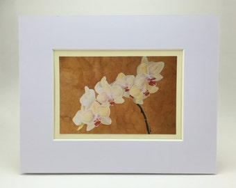 Orchid Painting an Original Print