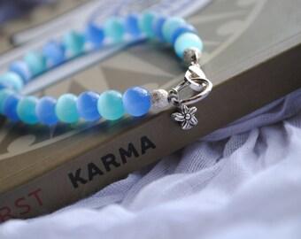 Bracelet In Blues Single Flower