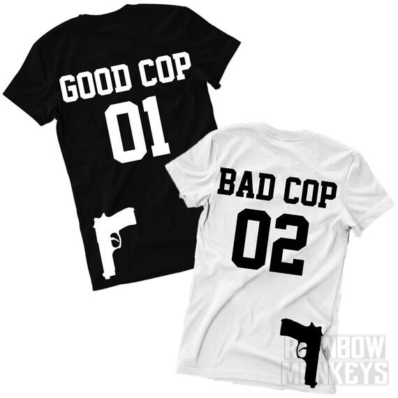 Good Cop and Bad Cop Matching T-Shirts Matching Shirts by RMonkeys