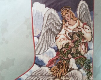 CHRISTMAS ANGELS Needlepoint Stocking Kit  -  Candamar Something Special Kit 30600 - holy, bible, religion, religious, believe, faith, glory
