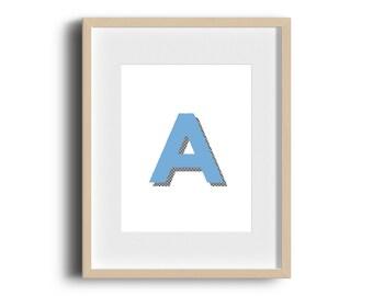 A-Z Nursery Letters  - Minimal Print