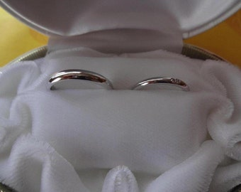 wedding ring platina pearring