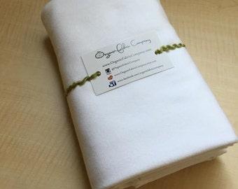 Cloud (White) - Cloud9 Flannel - Cloud9 Fabrics - Organic Cotton Flannel