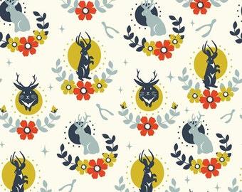 Jackalope Cream - Tall Tales - Birch Fabrics - Organic Cotton - Knit by the Yard