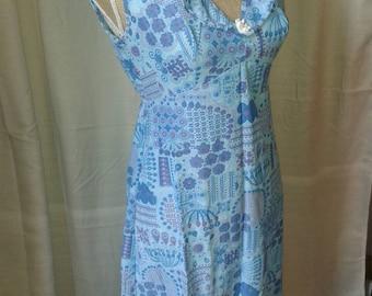 1960s HOSTIQUE maxi slip dress. Size UK 8-10