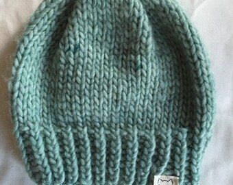 Knit Hat // Tuque // Mint Green