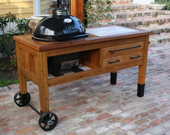 grill table for primo or big green egg grill - Primo Grills