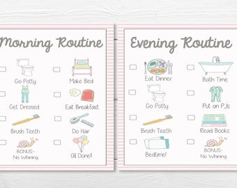 PRINTABLES- DAILY- Young Child/Toddler Girls Chore Chart