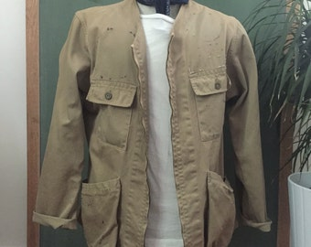 1950s Vintage Reeves Army Twill Chore Coat Size 42