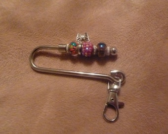 Keychain with purse hook