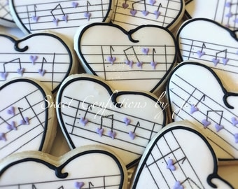 Music Bridal cookies