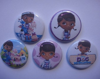 Doc Mcstuffins Buttons Set of 15 - 3 of each