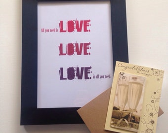 All You Need Is Love / Love Is All You Need Print