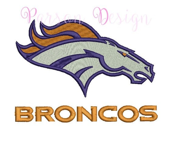 Denver Broncos 5 Size Embroidery Designs Football By