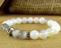 Gemstone Bracelet Yoga Bracelet Meditation Bracelet Reiki Jewelry Amulet Energy Bracelet Buddha Bracelet Moonstone Jewelry Balance Bracelet