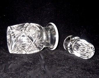 USA ONLY SHIPPING Vintage  Waterford Crystal Stoppered Jar  tableware set  early 1900s  set of oil & vinegar