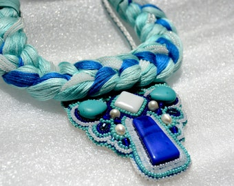"Seed bead necklace ""Mermaid"""