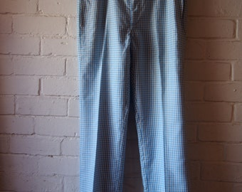 Men's size 32 blue gingham checkered pants