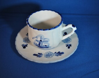 Delft Blue Cup and Saucer