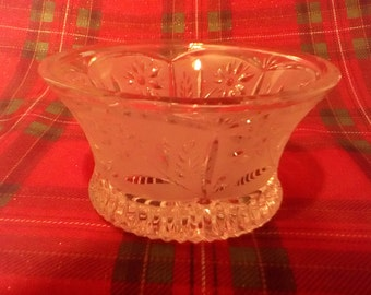 Frosted Crystal bowl