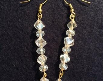 Gorgeous all crystal dangle earrings