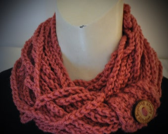 Handmade Chain Scarf Cowl ( necklace) Crochet
