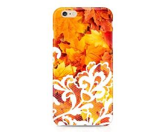 iPhone 7 Case autumn, iPhone 6 6S case LACE Samsung S6 S6 Edge Case lace iPhone SE Case autumn iPhone 6S Plus 6 Plus leaf LG G5 case