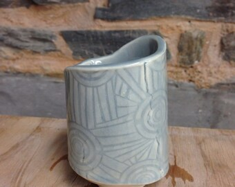Handmade Blue Textured Ceramic Mug