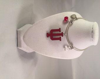 INDIANA UNIVERSITY HOOSIERS expandable bangle bracelets