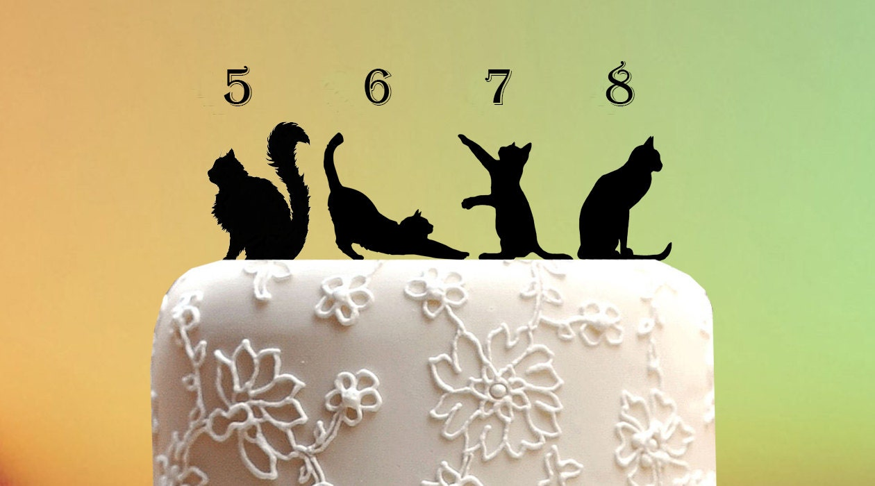 black cat wedding cake toppers cat silhouette wedding cake topper wedding cake by 11859