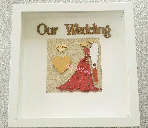 personalised wedding newlywed asian indian bridal frame gift keepsake ...