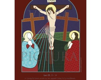 cards A5 passion of Christ