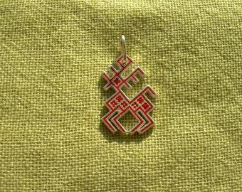 Pagan Pendant Norwegian Reindeer. Christmas Reindeer. Ethnic Ancient Neclace. Nordic Pagan Jewelry. Scandinavian Rudolph Reindeer.