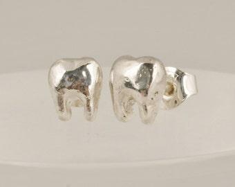 Tiny Teeth Earrings