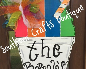 Snowball Door Hanger, Snow Cone Door Hanger, Snowball Wreath, Summer Door Hanger