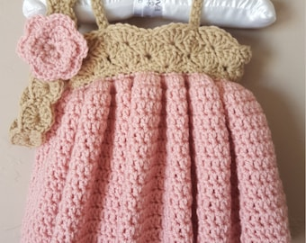 Baby Girl Pink Sundress with Headband