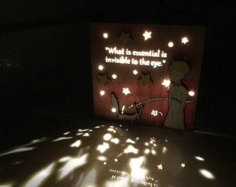 The Little Prince Night light / Wood box night light / light box