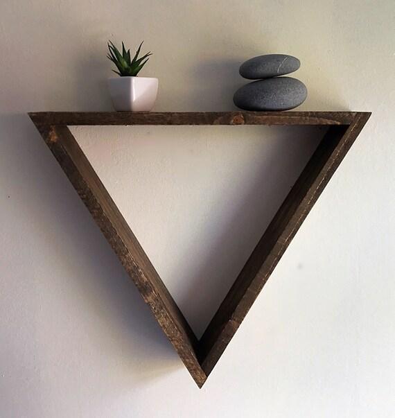 Triangle Shelf Large Triangle Shelf Geometric Wall Shelf