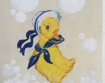 Vintage bubble duck