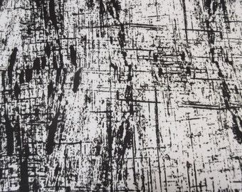Poly Crepe de Chine/CDC Digital Print Graffiti Brush Strokes BLK/WHT