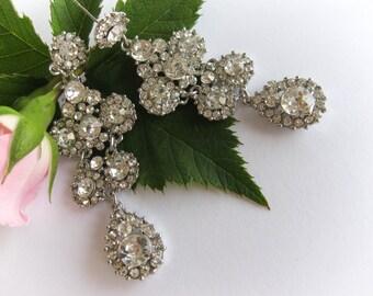 Crystal Bridal Chandelier Earrings, Wedding Earrings, Bridal Jewelry, Bridesmaid Jewelry, Bridesmaids Jewelry, Bride Earrings, Post Earrings