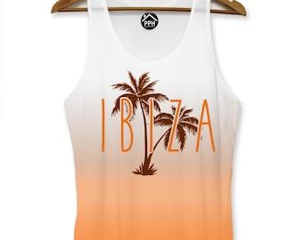 Ibiza Orange Summer Vest Mens Party Lads Holiday Singlet Sleeveless Tank PP103