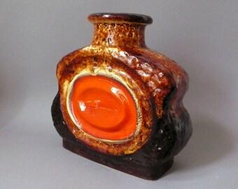 XL Oberhessische Keramik West German Pottery Vintage Rare U4/24 LAVA Vase 60s 70s Mid Century Modernist