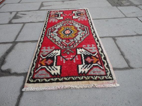 Turkish Vintage Rugsmall Wool Rugbath Room Rugdoormat