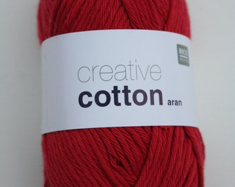 Rico Creative Cotton Aran Cherry 065