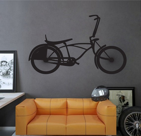 Kik2365 wall decal sticker bmx bike sports hall bedroom sports for Bmx bedroom ideas